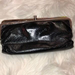 Hobo leather kids wallet clutch very good cond